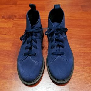 Dr. Martens Church Blue Suede 5 eye laced boots s6